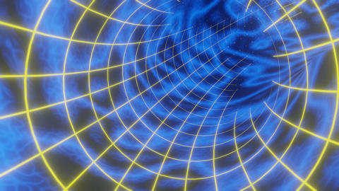 80's Style Blue Wormhole Loop Videos animados