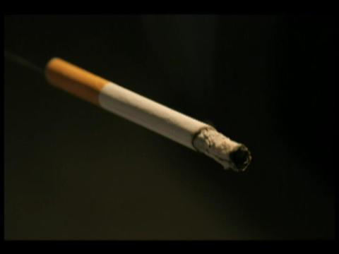 Time-lapse of a cigarette burning Footage