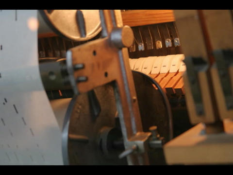 Time-lapse of the moving parts inside a player piano Stock Video Footage