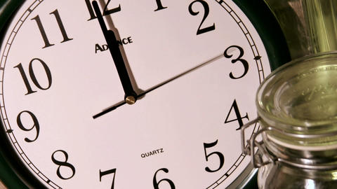 A second hand moves counterclockwise, as minute and hour... Stock Video Footage