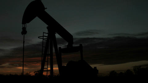 Time lapse shot of an oilrig's movement throughout the... Stock Video Footage