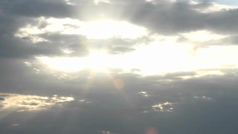 Sun halations shine through as a bright gold sun... Stock Video Footage