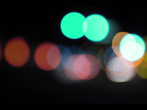 An accelerated selective-focus shot of traffic lights at... Stock Video Footage