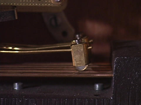 Hammers strike the strings on a piano Stock Video Footage