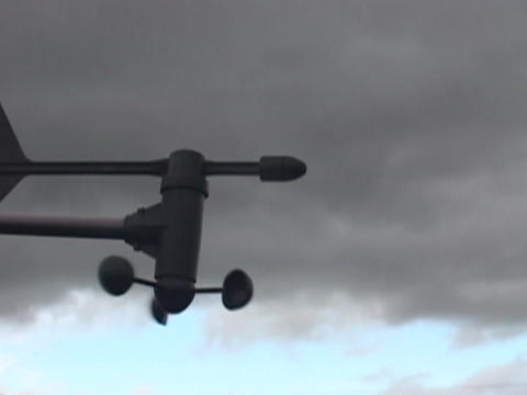 A weather vane turns in the wind Stock Video Footage