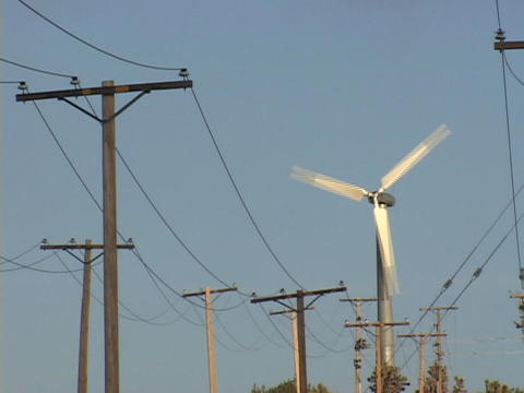 The blades on a wind turbine spin Stock Video Footage