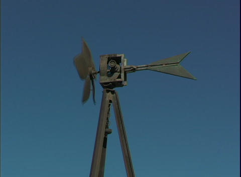 A windmill spins Stock Video Footage