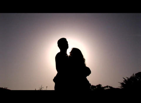 Medium shot of a couple embracing Stock Video Footage