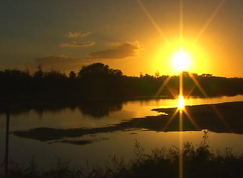 Tropical paradise at the golden-hour is breath-taking Stock Video Footage