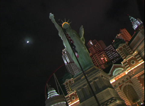 Static shot of the New York, New York Hotel and Casino in... Stock Video Footage