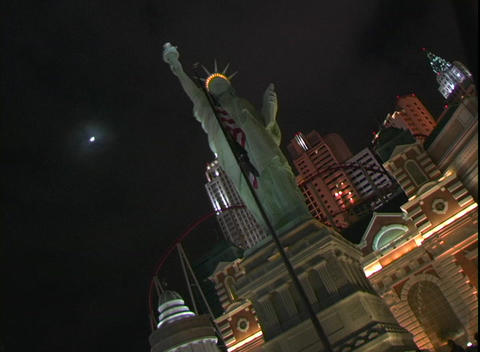 Static shot of the New York, New York Hotel and Casino in Las Vegas Footage