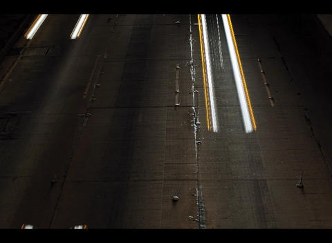 Traffic blurs into streaks of light in this accelerated... Stock Video Footage