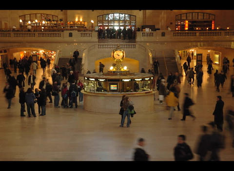 Crowds walk in a large building Stock Video Footage