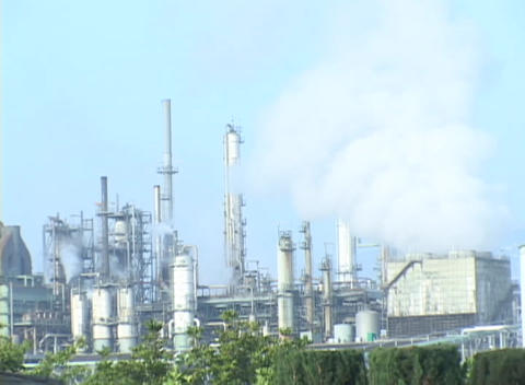 Time Lapse of a oil refinery Stock Video Footage