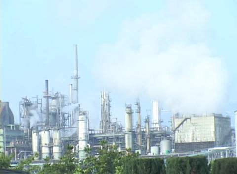 Time Lapse of a oil refinery Footage