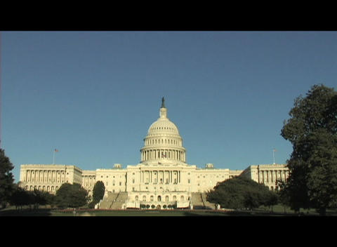 The Capital Building in Washington, DC Stock Video Footage