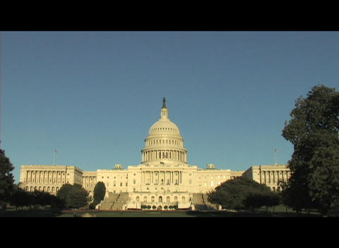 The Capital Building in Washington, DC Live Action