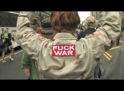 Anti war Protesters in Washington protest the war in Iraq Stock Video Footage