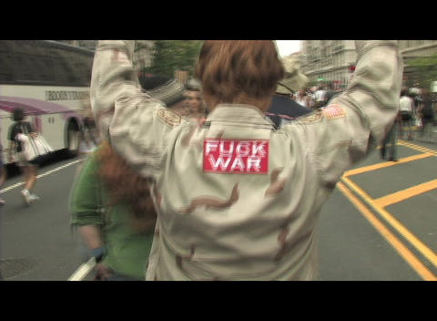 Anti war Protesters in Washington protest the war in Iraq Footage