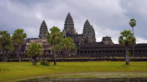Cambodia. Angkor Wat. Shot with a horizontal panning Footage