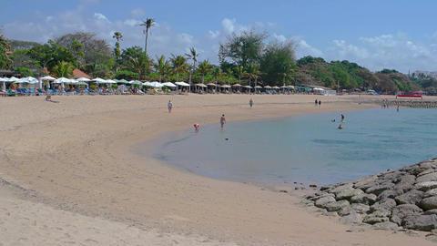 Public Beach. Bali Island. Indonesia Footage