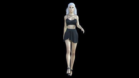 NR6 Catwalk Model Front Animation