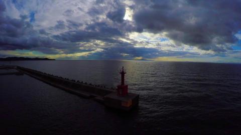 夕暮れの赤い燈台 ビデオ