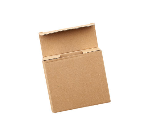 open brown square cardboard box for transporting goods Fotografía