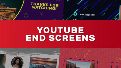 YouTube End Screens 4K Motion Graphics Template