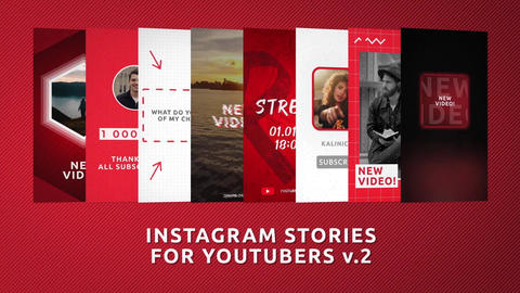 Instagram Stories for YouTubers v 2 Motion Graphics Template