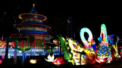 chinese lantern festival - light art installations compositions illuminated ad Live Action