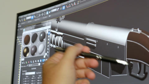 software house videogames game design 3D software hand pen explain shotgun model Live Action