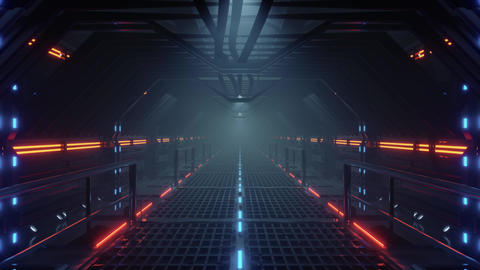 seamless looped animation of an futuristic scifi tunnel CG動画