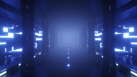seamless looped animation of an futuristic scifi tunnel Animation