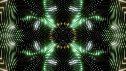 seamless looped 3D rendering animation of an abstract colorful kaleidoscope Videos animados
