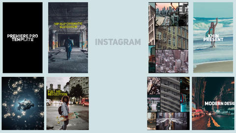 Instagram Opener Premiere Proテンプレート
