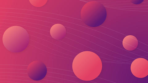 Trendy and popular abstract background with gradient balls CG動画
