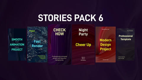 Stories Pack 6 Plantillas de Premiere Pro
