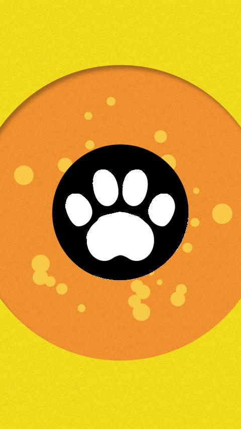 Paws transition orange 01 Animation