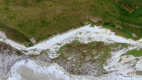 Flight over the white cliffs of the English South coast Live Action