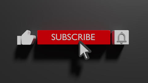 Youtube subscribe and bell icon motion graphic animation template clip. Subscribe Button Youtube Animation