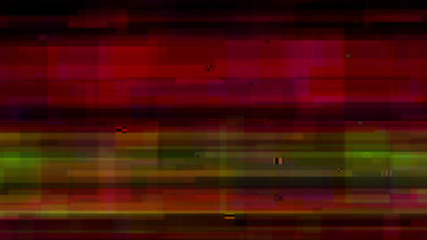Defects and interference of the video signal Animation