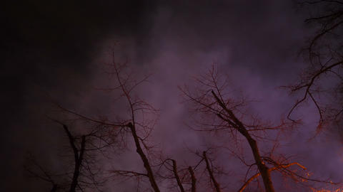 Dark purple mysterious smoky sky Live Action