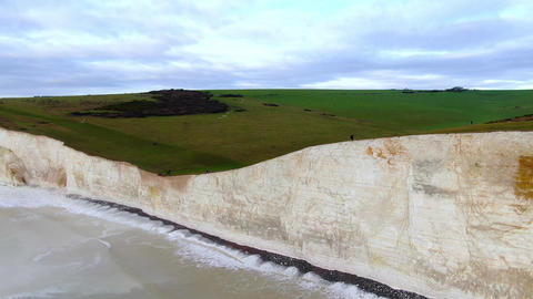 Seven Sisters - The white cliffs at the South coast of England Live Action