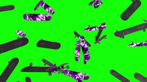 Skate Board loop green screen animation Animation