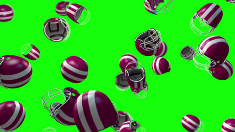 rugby football Helmet loop green screen animation Animation
