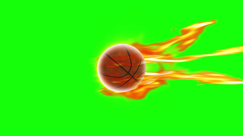 Basket Ball fire loop green screen animation Videos animados