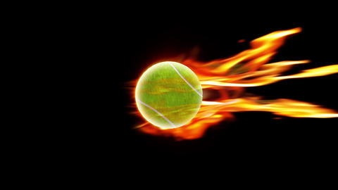 Tennis Ball fire loop animation Videos animados