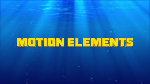 Undersea Titles After Effects Template
