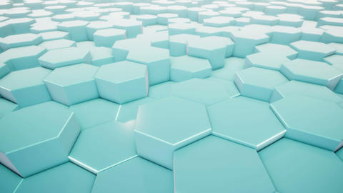 Hexagonal Geometric Surface Animation